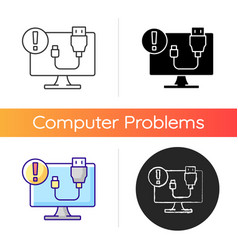 usb does not work icon vector image