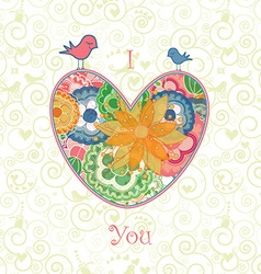 Valentines Card with the text I Love You vector image