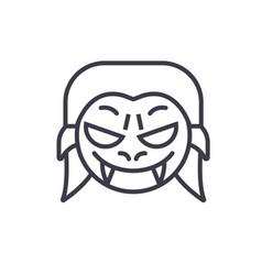 vampire emoji concept line editable vector image