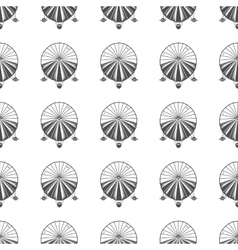 Vintage airship seamless pattern Retro Dirigible vector image