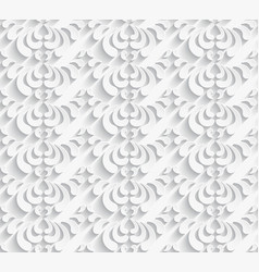 White seamless pattern with paper swirls vector