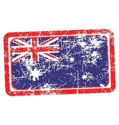 australia flag red grunge rubber stamp vector image vector image