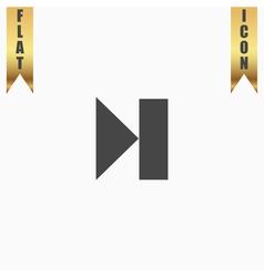 Next track web icon media player vector