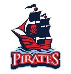 pirate vessel mascot vector image vector image