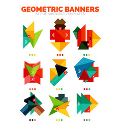 Set of bright colorful empty geometric vector