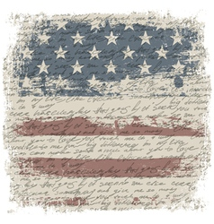 vintage usa background isolate borders vector image vector image