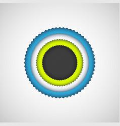 black bubble badge vector image
