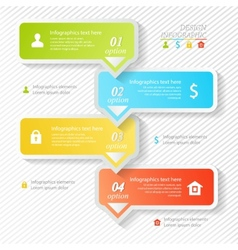 Design business infographics four successive vector image vector image