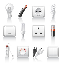 electric accessories icons vector image vector image