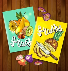 fruits top view vector image vector image