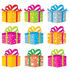 gifts box vector image