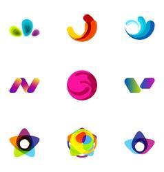 logo design elements set 13 vector image