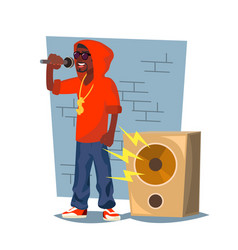 professional rapper male singer with vector image