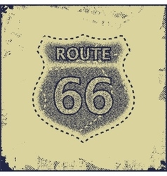 Route sixty six sign vector