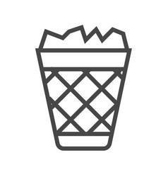 trash bin thin line icon vector image