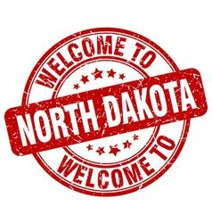 welcome to North Dakota vector image vector image
