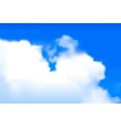 Blurred clouds vector image
