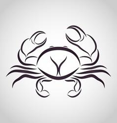 Crab logo vector image vector image