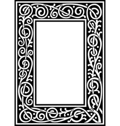 fancy frame vector image