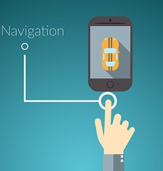 Flat design concept for online services Concepts vector image