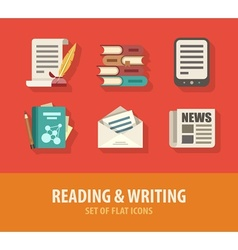Literature reading and vector image vector image