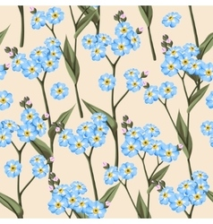 Seamless forget me not vector image