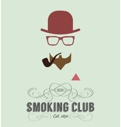 smoking club card vector image vector image