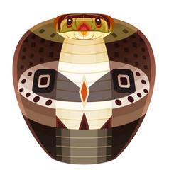 Snake head logo cobra decorative emblem vector