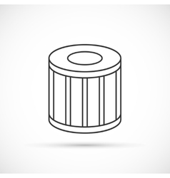 Car oil filter outline icon vector image vector image