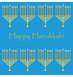 Jewish holiday pattern hanukkah vector image