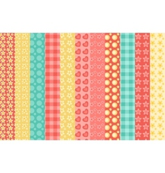 Set of simple seamless pattern vector image vector image