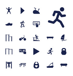 22 active icons vector