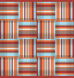abstract geometric seamless pattern square stripe vector image vector image