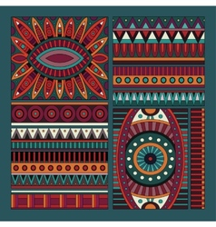 Abstract tribal ethnic design elements vector
