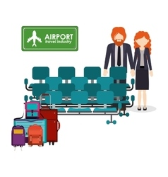 Airport industry design vector