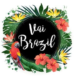 Aloha Party Brazil vector