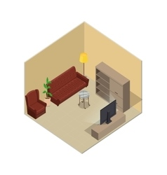 Apartment in Isometric Projection vector image