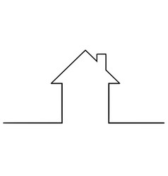 Artistic drawing of simple family house silhouette vector