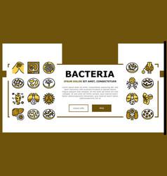 Bacteria infection landing header vector