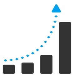 Bar Chart Positive Trend Toolbar Icon vector image