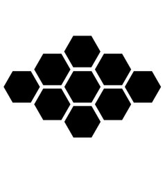 Black hexagon icon on white background eps vector