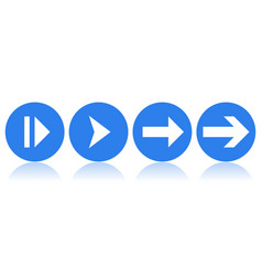blue icons with white arrows vector image