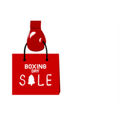 boxing gloves holding shopping bag vector image