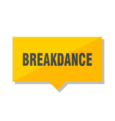 Breakdance price tag vector