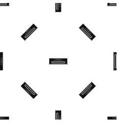 building level pattern seamless black vector image
