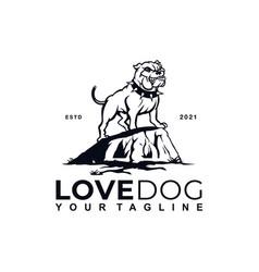 Bulldog logo design template and inspiration vector