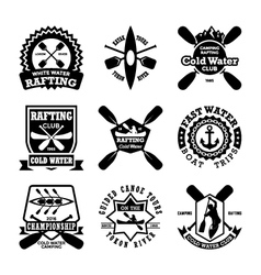 Canoeing Badges vector