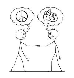 Cartoon two men or businessmen or politicians vector