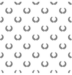 Certified wreath pattern seamless vector