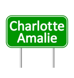 Charlotte Amalie road sign vector